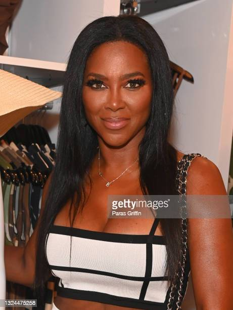 Kenya Moore attends Saweetie x Matte Collection Launch at Matte Collection Store Phipps Plaza on June 19, 2021 in Atlanta, Georgia.