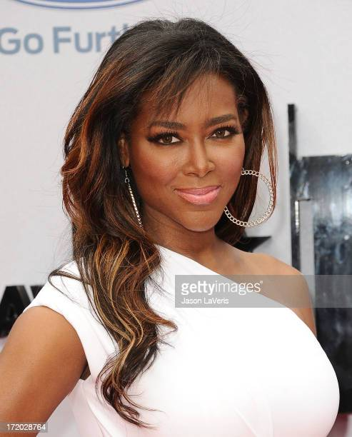 Kenya Moore attends the 2013 BET Awards at Nokia Theatre LA Live on June 30 2013 in Los Angeles California