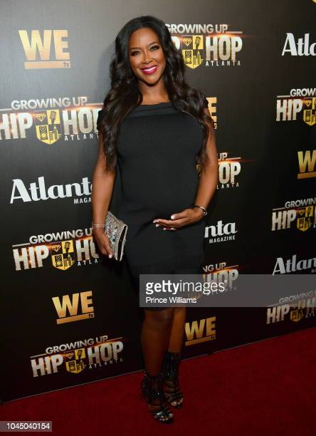 Kenya Moore attends with the cast of growing up hip hop Atlanta new season celebration at Tongue Groove City on October 2 2018 in Atlanta Georgia