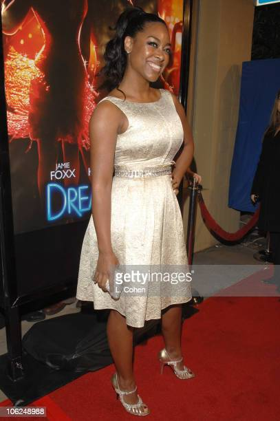 Kenya Moore during 'Dreamgirls' Los Angeles Premiere Red Carpet at Wilshire Theater in Los Angeles California United States