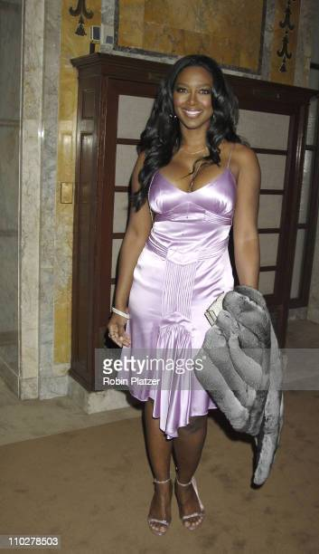 Kenya Moore during 'The Color Purple' Broadway Opening Night After Party at The New York Public Library in New York City New York United States
