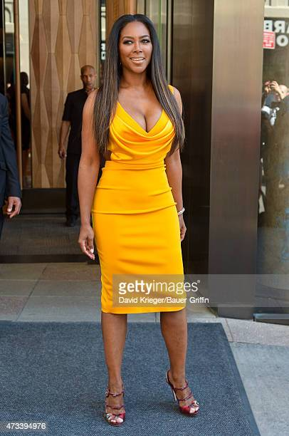 Kenya Moore is seen departing the Jacob Javits Center on May 14 2015 in New York City