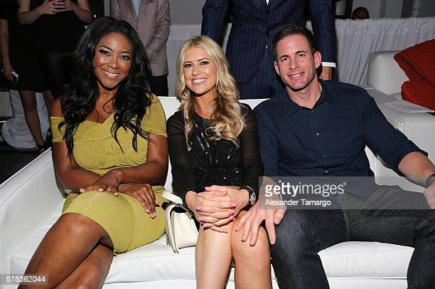 Kenya Moore of Bravo's 'The Real Housewives of Atlanta' Christina El Moussa and Tarek El Moussa of HGTV's 'Flip or Flop' new North American brand...