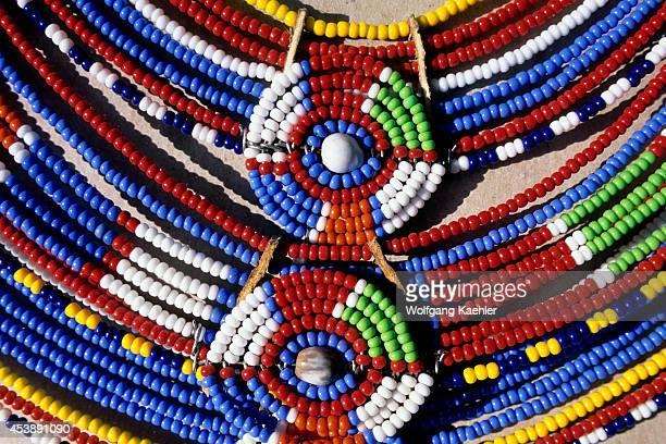Kenya Namanga Tourist Rest Stop Masai Souveniers Necklaces Detail