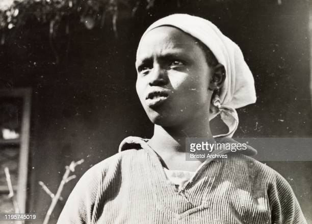 Kenya Portrait of a young Kikuyu woman educated by Church of Scotland missionariesOriginal manuscript caption The new Kikuyu a girl educated at the...