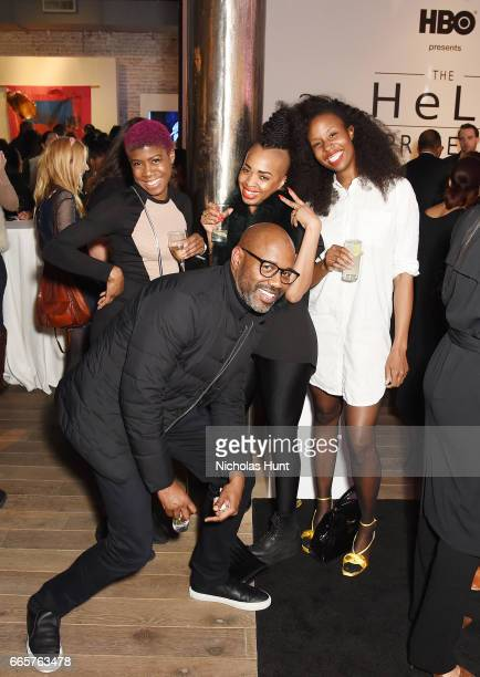 Kenya Robinson Doreen Garner Kendra Patrick and Lewis Long attends HBO's The HeLa Project Exhibit For The Immortal Life of Henrietta Lacks on April 6...