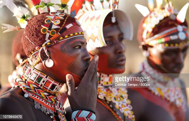kenya, samburu warriors (moran) - dietmar temps stock photos and pictures