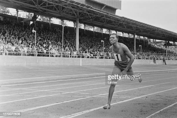 Kenyan athlete Kipchoge Keino wins the Morley Mile at the Welsh Games in Cardiff, Wales, 11th September 1966.