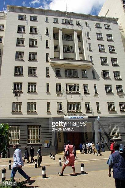 Kenyan branch of British bank Barclays is deserted 02 December 2003 in Nairobi after it was evacuated following a bomb scare US citizens and United...