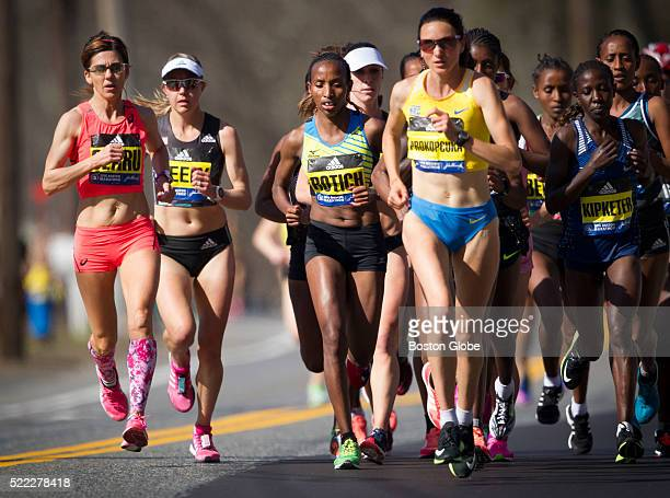 Kenyan Caroline Rotich the 2015 Boston Marathon race winner dropped out of this years race at the 5mile mark pulling up short as the lead pack of...