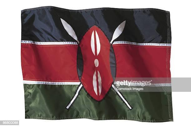 kenyan flag - kenyan flag stock pictures, royalty-free photos & images