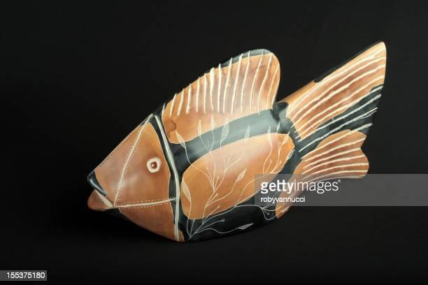 Kenyan handcarved soapstone fish sculpture