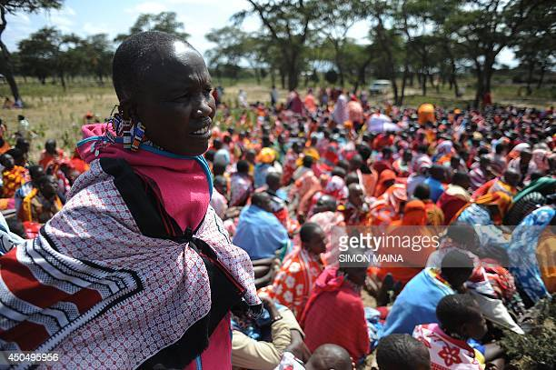 Kenyan Maasai women gather for a meeting dedicated to the practice of female genital mutilation in which several participants voiced opposition to a...