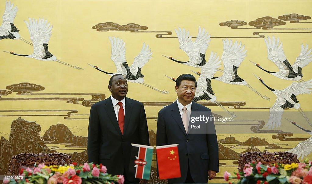 Kenyan President Kenyatta Visits China