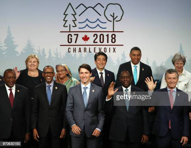 Kenyan President Uhuru Kenyatta Rwandan President Paul Kagame Canadian Prime Minister Justin Trudeau Senegalese President Macky Sall Argentinean...