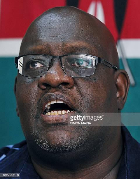 Kenyan veteran anticorruption activist and whistleblower John Githongo speaks during an interview in Nairobi on July 31 2015 Githongo spoke following...
