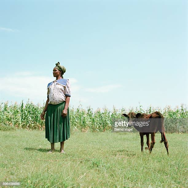 Kenyan woman on her small farm