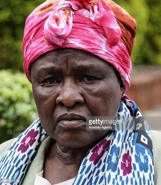 Kenyan woman waits in front of morgue of Chiromo Campus of Nairobi University on April 04 2015 to identify the corps of her relative killed during...