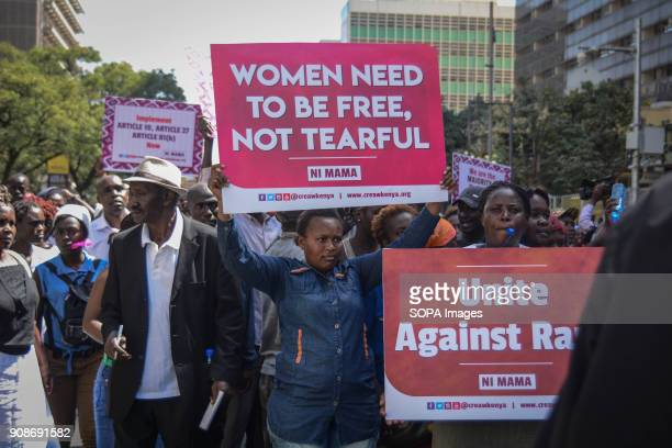 Kenyan women took to the streets of Nairobi the capital city of Kenya to protest against the recent reported rape allegations at the Kenyatta...