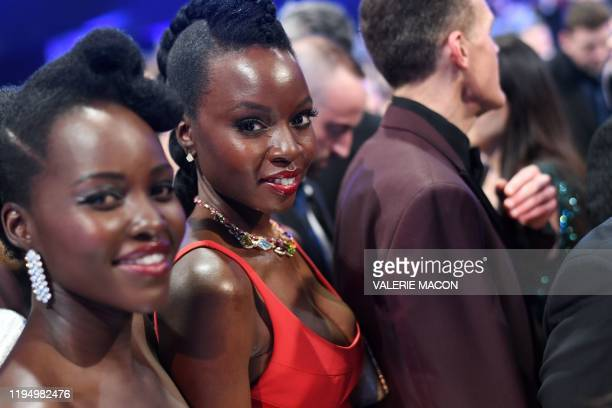 KenyanMexican actress Lupita Nyong'o and US actress Danai Gurira attend the 26th Annual Screen Actors Guild Awards show at the Shrine Auditorium in...