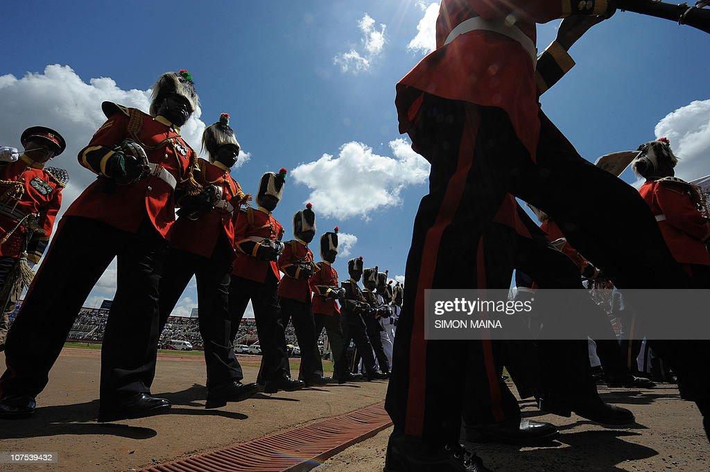 Kenya's Army band  parade during commemo : News Photo