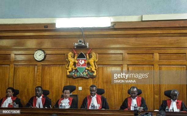 Kenya's Chief Judge David Maraga speaks at The Supreme Court in Nairobi on December 11 before all judges delivered their full judgement on the...