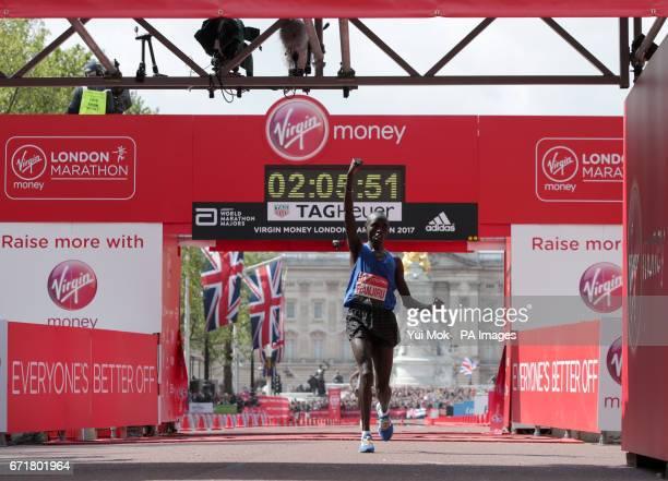 Kenya's Daniel Wanjiru wins the Men's Virgin Money London Marathon London PRESS ASSOCIATION Picture date Sunday April 23 2017 See PA story ATHLETICS...
