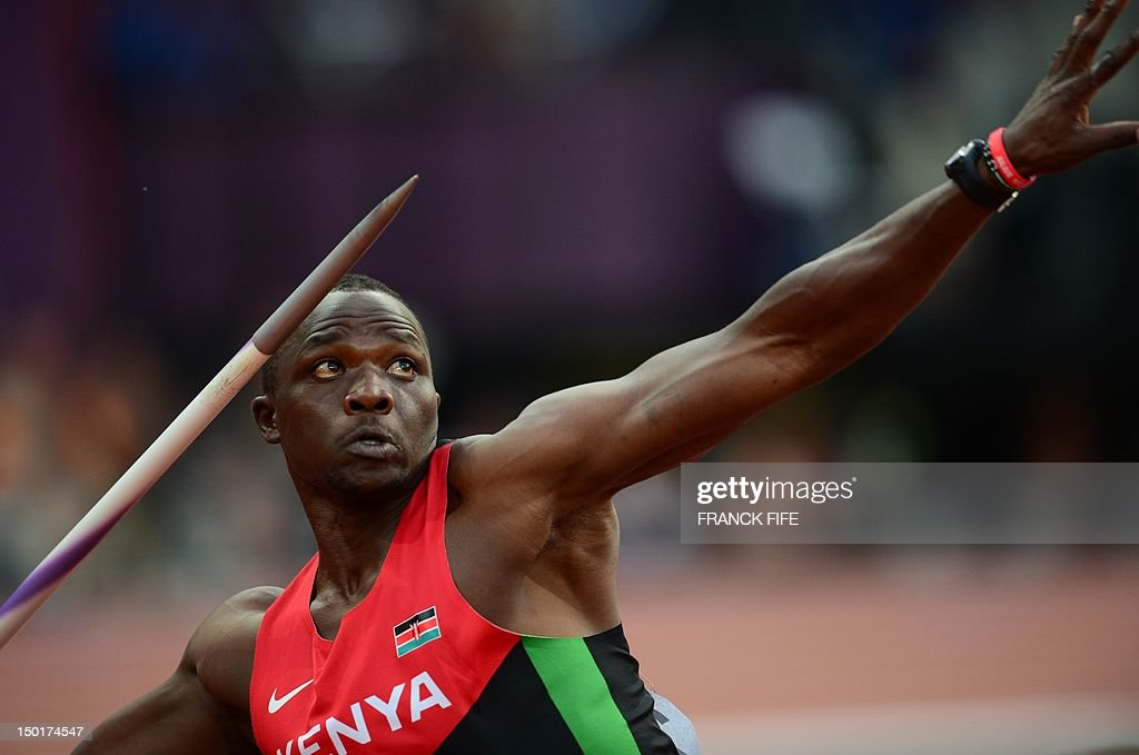 Kenya's Julius Yego competes in the men' : News Photo