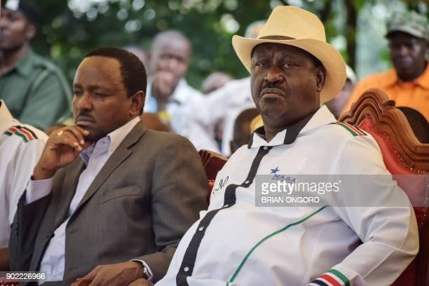 Kenya's opposition National Super Alliance leader Raila Odinga and former VicePresident of Kenya National Super Alliance principal and Wiper...