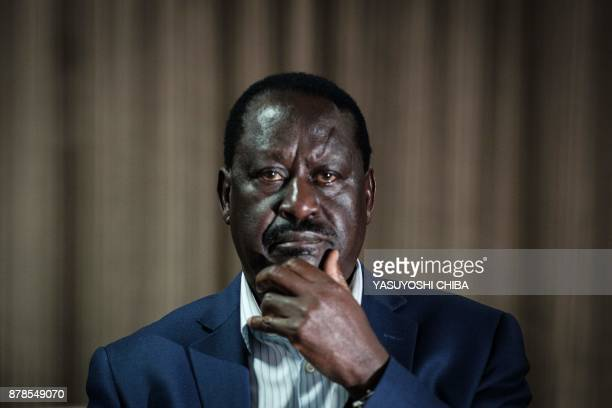 Kenya's opposition party National Super Alliance leader Raila Odinga attends the NASA's fund raising event for the victims of police brutality...