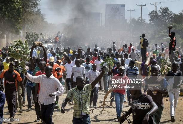Kenya's opposition supporters protest and call for the resignation of the Independent Electoral and Boundaries Commission officials over claims of...