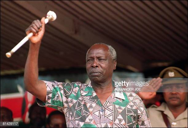 Kenya's President Daniel Arap Moi who is also the leader of the ruling Kenyan African National Union party shown in a picture dated 28 December 1992...