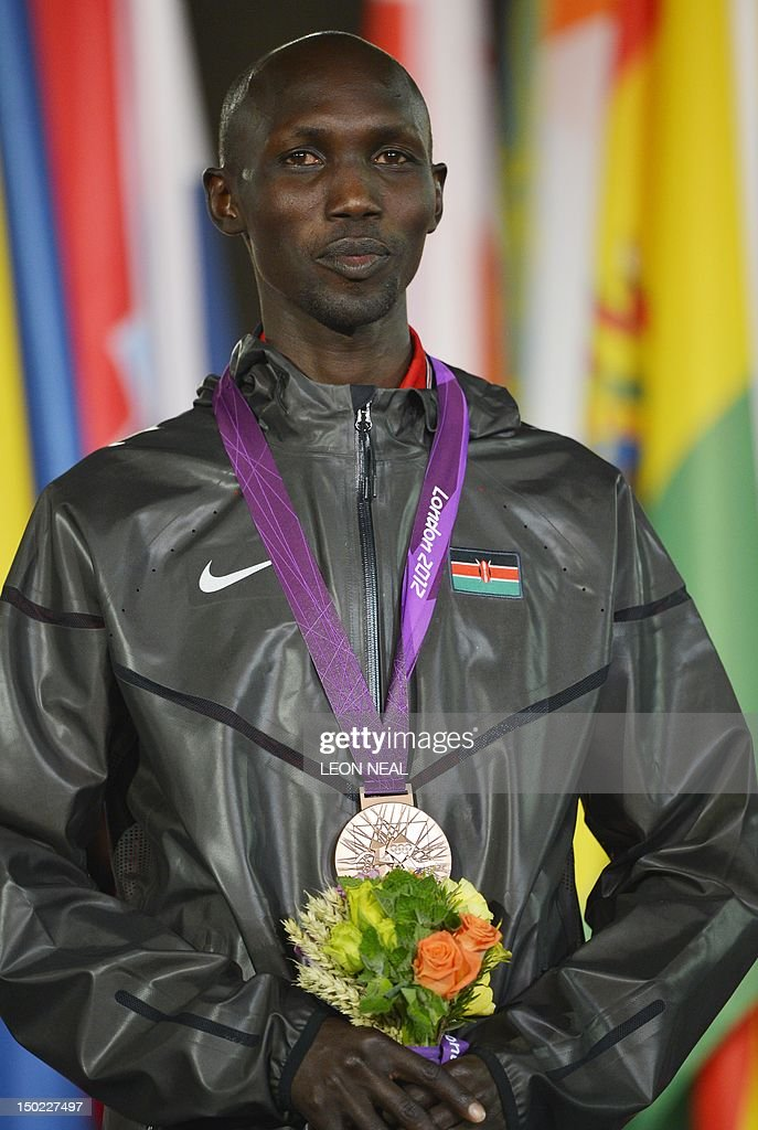 Kenya's Wilson Kipsang Kiprotich poses o : News Photo