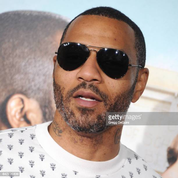 Kenyon Martin arrives at the premiere of Warner Bros Pictures' 'Fist Fight' at Regency Village Theatre on February 13 2017 in Westwood California