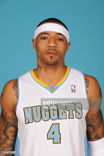 Kenyon Martin of the Denver Nuggets poses for a photogragh during media day on September 27 2010 at the Pepsi Center in Denver Colorado NOTE TO USER...