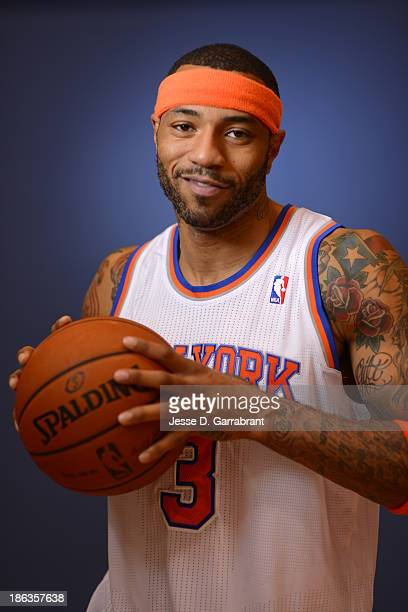 Kenyon Martin of the New York Knicks poses for a portrait at Media Day on September 30 2013 at Madison Square Garden in New York City New York NOTE...