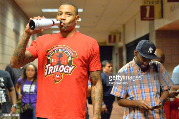 Kenyon Martin of the Trilogy celebrates after winning the BIG3 three on three basketball league championship game against 3 Headed Monsters on August...
