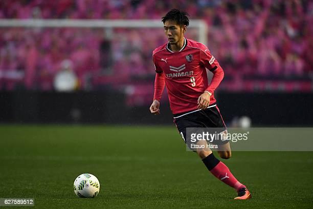 Kenyu Sugimoto of Cerezo Osaka in action during the JLeague J1 Promotion PlayOff final between Cerezo Osaka and Fagiano Okayama at Kincho Stadium on...