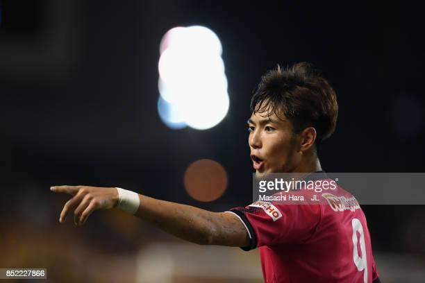 Kenyu Sugimoto of Cerezo Osaka protests to referee during the JLeague J1 match between Cerezo Osaka and Vegalta Sendai at Kincho Stadium on September...