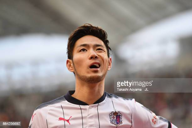 Kenyu Sugimoto of Cerezo Osaka shows dejection after their 01 defeat in the JLeague J1 match between Albirex Niigata and Cerezo Osaka at Denka Big...