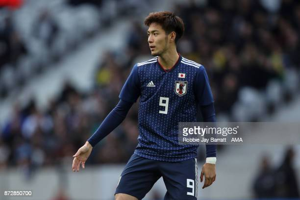 Kenyu Sugimoto of Japan during the international friendly match between Brazil and Japan at Stade PierreMauroy on November 10 2017 in Lille France