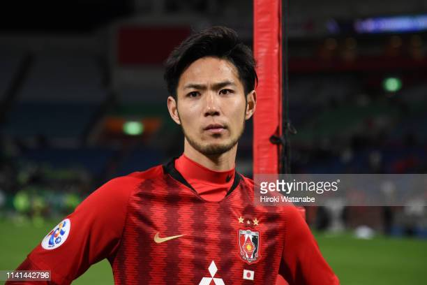 Kenyu Sugimoto of Urawa Red Diamonds shows dejection after his side's 01 defeat in the AFC Champions League Group G match between Urawa Red Diamonds...