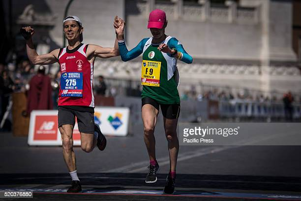 Kenza Dahman during Rome Marathon 2016 The winners of the marathon in Rome 2016 Kenyan Amos Kipruto was the first to cross the finish line with a...
