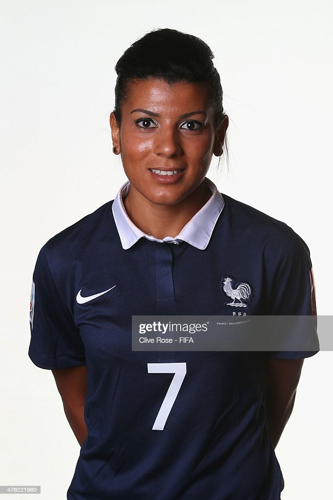 Kenza Dali of France poses during a FIFA Women's World Cup portrait session on June 6, 2015 in Moncton, Canada.