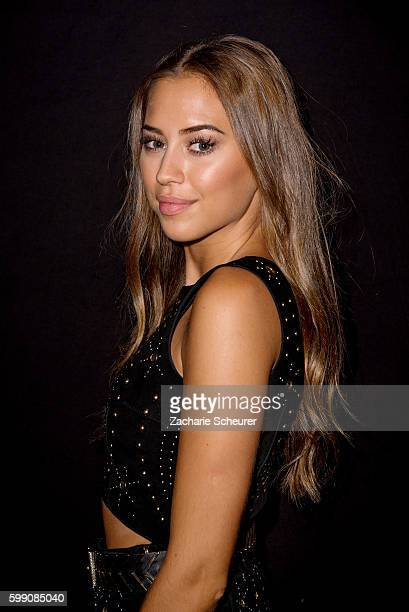 Kenza Zouiten is seen backstage ahead of the Ivyrevel fashion show during the Bread & Butter by Zalando at arena Berlin on September 4, 2016 in...