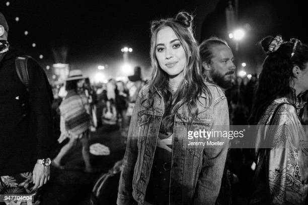 Kenza Zouiten Subosic during day 2 of the 2018 Coachella Valley Music & Arts Festival Weekend 1 on April 14, 2018 in Indio, California.