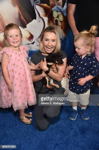 Kenzie Cameron actress Beverly Mitchell and Hutton Michael Cameron attends the premiere of Global Road Entertainment's Show Dogs at The TCL Chinese 6...