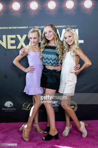 """Kenzie Couch, Katie Couch and Kameron Couch attend the premiere of The Loft Entertainment and MarVista Entertainment's """"Next Level"""" at Regency Bruin..."""