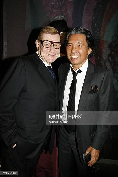 Kenzo and Yves SaintLaurent attend the gala dinner at the Yves Saint Laurent Foundation on October 2 2006 in Paris France
