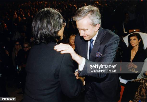 Kenzo fête ses 30 ans de Mode en compagnie de Bernard Arnault à Paris le 7 octobre 1999 France